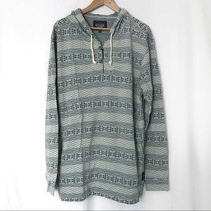 Roark knit hoodie printed beachwear green